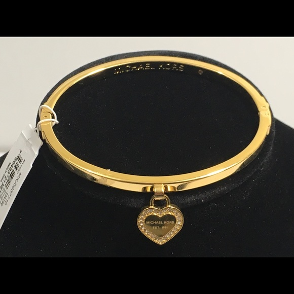08375b755d48c Michael Kors Logo Bangle Heart Bracelet NWT